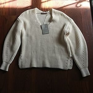 NWT Everlane Cream Sweater Size Small